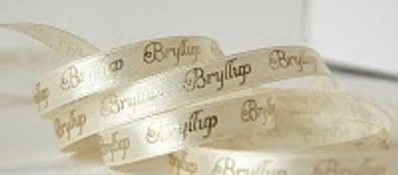 Bilde av Bånd, bryllup beige (20m)