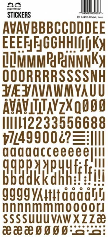 Bilde av Stickers brown (6)