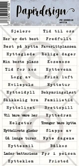 Bilde av Hytta (6 klistremerker)