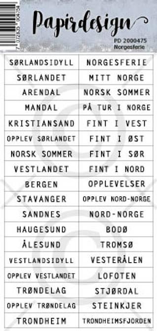 Bilde av Norgesferie (6 klistremerker)