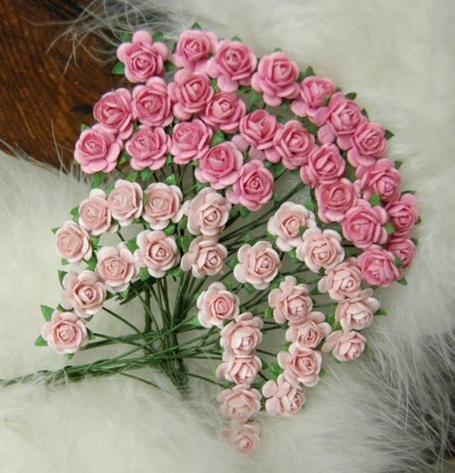 Bilde av Nr 35, Roser 1,0 cm, Rosa og