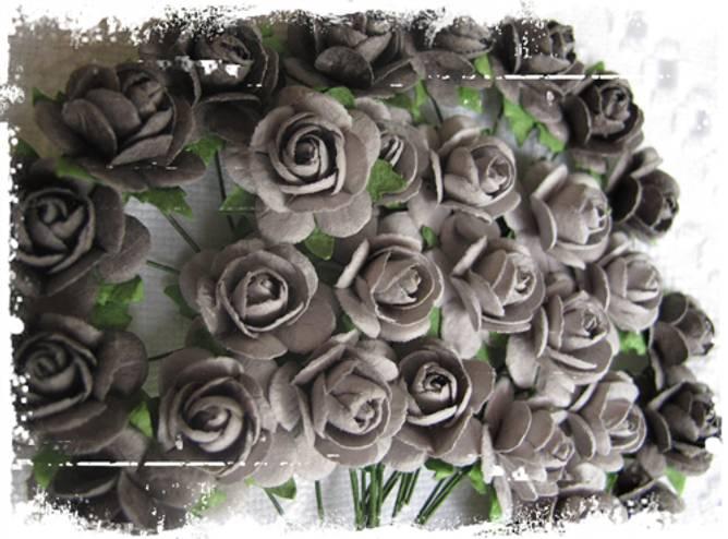 Bilde av Roser 1,8 cm Grå (6)