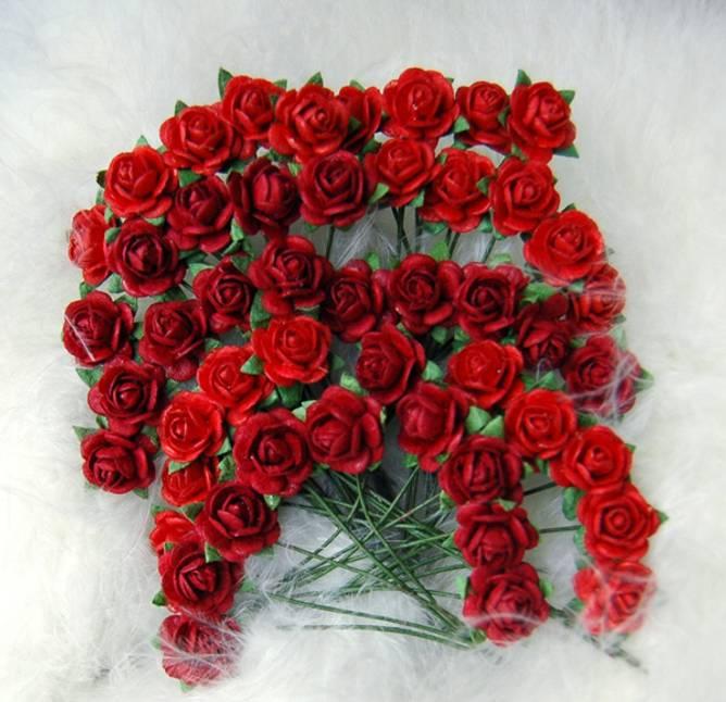 Bilde av Nr 34, Roser 1,0 cm, Rød (6)