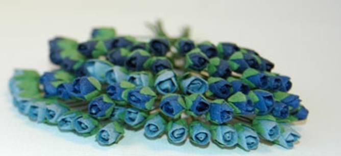 Bilde av Roseknopper, blå (6)